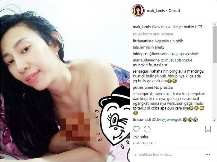 Dewi Sanca Pamer Payudara, Cari Sensasi Kah - IG Mak_Lamis